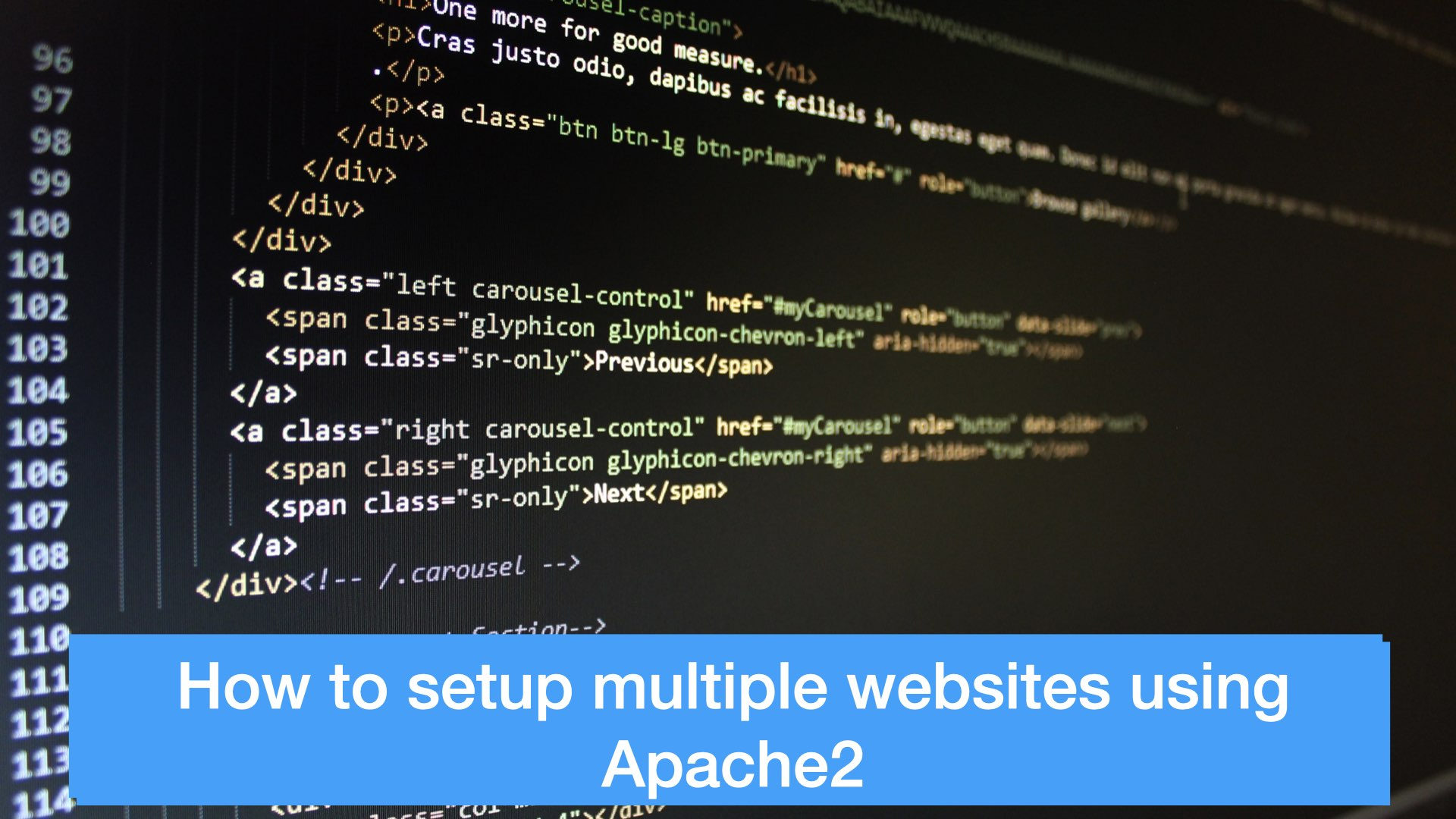 HOW TO SET UP MULTIPLE WEBSITES USING APACHE2